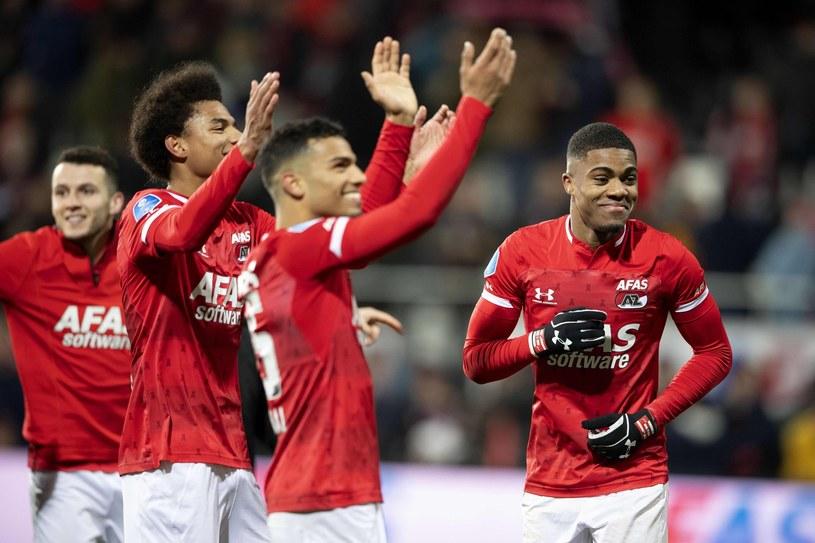 Piłkarze AZ Alkmaar po grudniowym triumfie nad Ajaksem /AFP