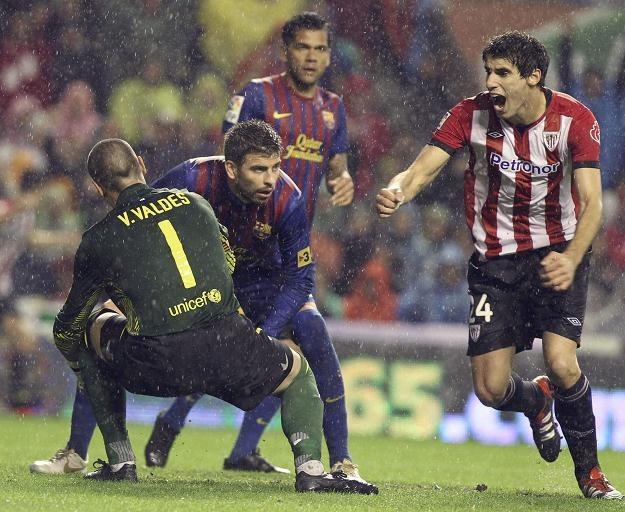 Piłkarze Barcelony stracili w Bilbao dwa gole i dwa punkty /AFP