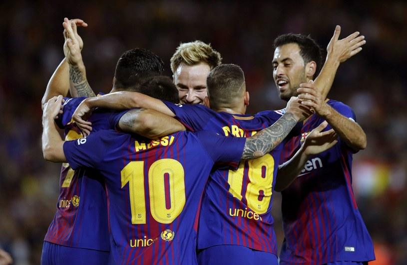 Piłkarze Barcelony /AFP