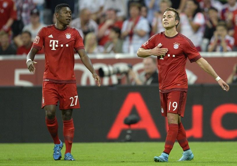 Piłkarze Bayernu Monachium - David Alaba (z lewej) i Mario Goetze /AFP