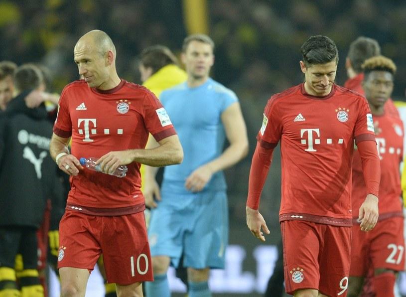 Piłkarze Bayernu Monachium po meczu z Borussią Dortmund /AFP