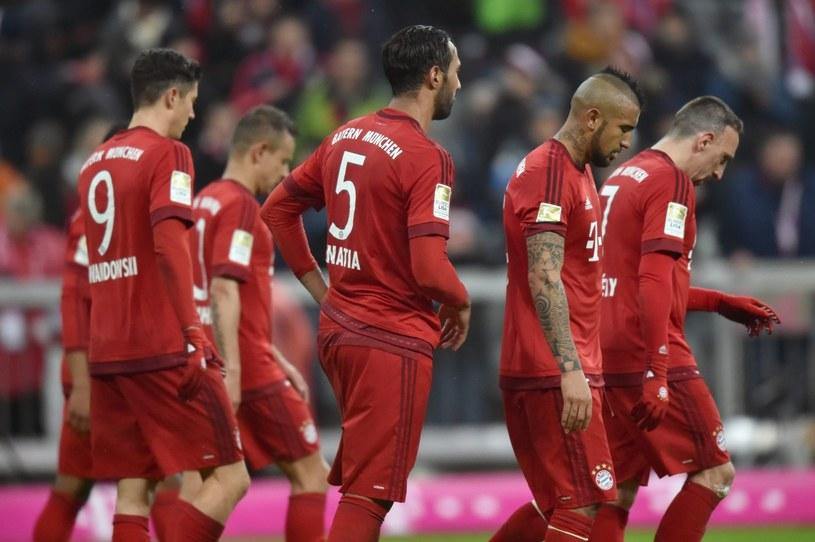 Piłkarze Bayernu Monachium po meczu z Mainz /PAP/EPA
