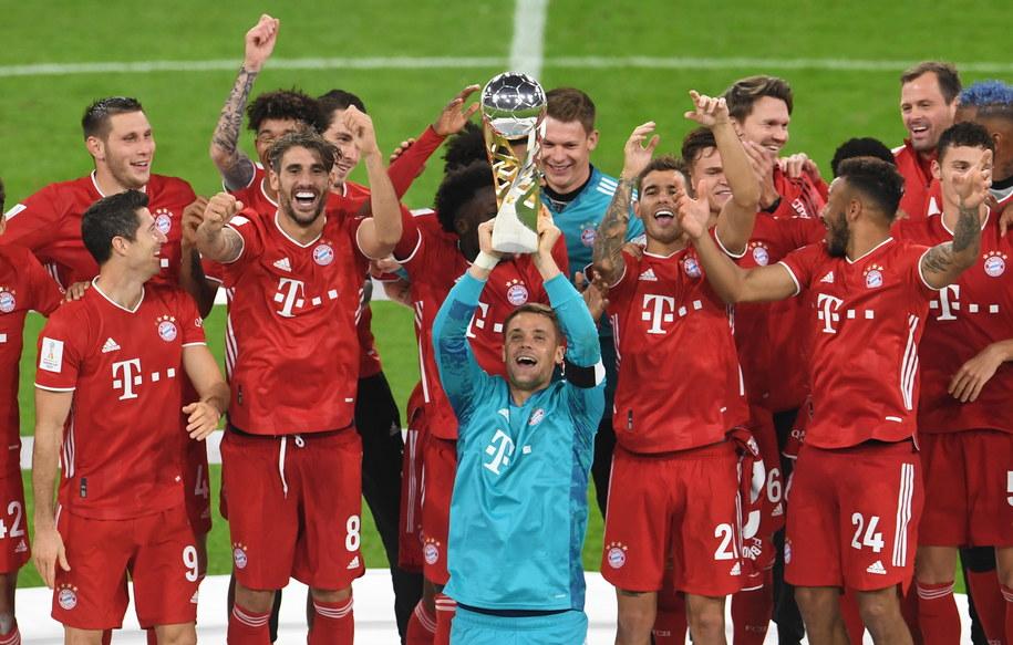 Piłkarze Bayernu Monachium, z Robertem Lewandowskim w składzie, wywalczyli Superpuchar Niemiec /ANDREAS GEBERT / POOL /PAP/EPA