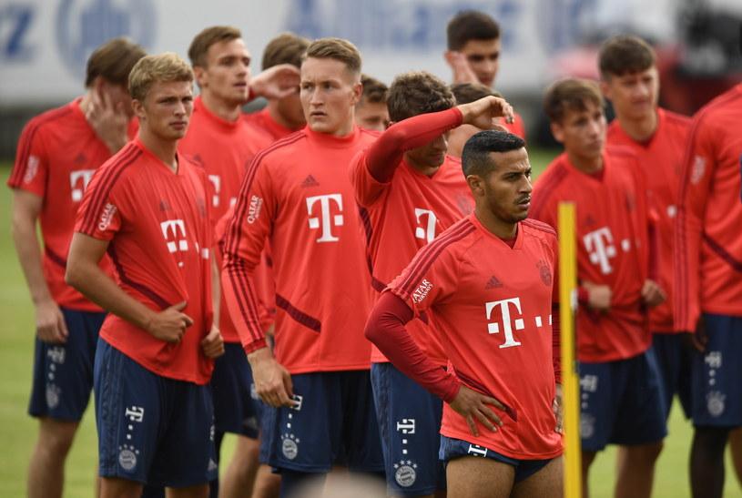 Piłkarze Bayernu podczas treningu /PAP/EPA