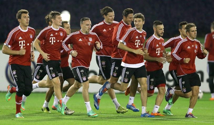 Piłkarze Bayernu przygotowują się do drugiej części sezonu /AFP