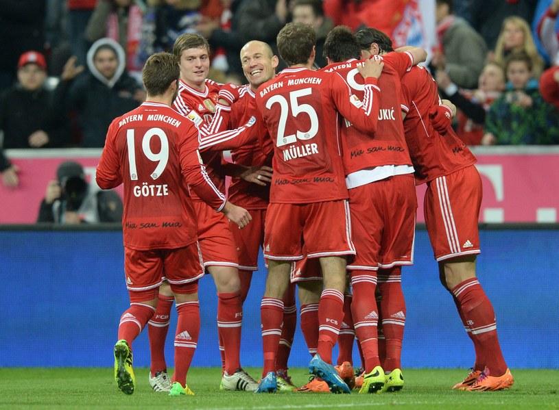 Piłkarze Bayernu są o krok od zdobycia mistrzostwa Niemiec /AFP