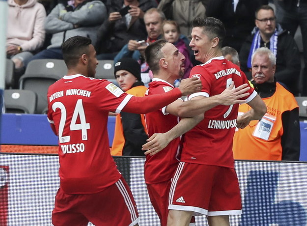 Piłkarze Bayernu /Shan Yuqi /PAP/Photoshot