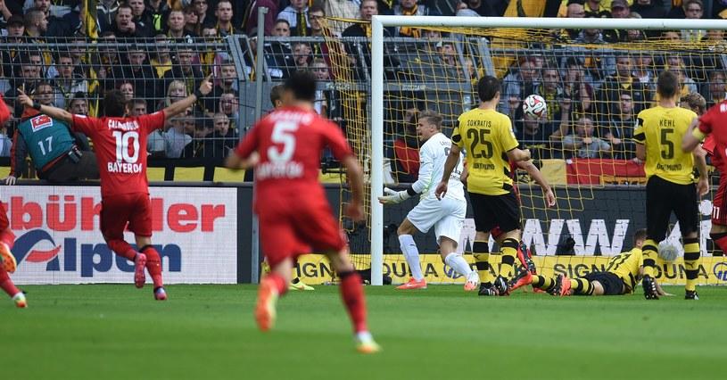Piłkarze Bayeru cieszą się z gola /AFP