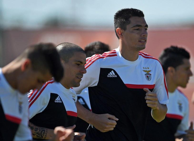 Piłkarze Benfiki Lizbona podczas treningu /AFP