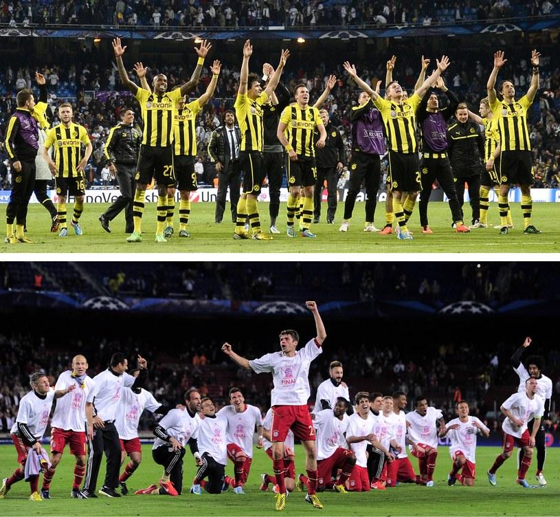 Piłkarze Borussii Dortmund i Bayernu Monachium zmierzą się w pierwszym niemieckim finale Ligi Mistrzów /AFP