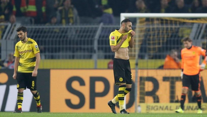 Piłkarze Borussii Dortmund nie kryli rozczarowania /PAP/EPA