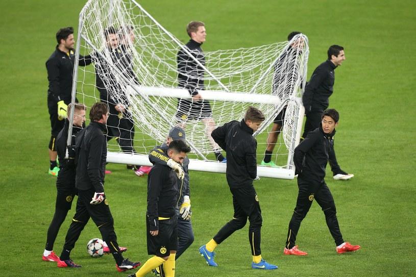 Piłkarze Borussii Dortmund podczas treningu w Turynie /AFP