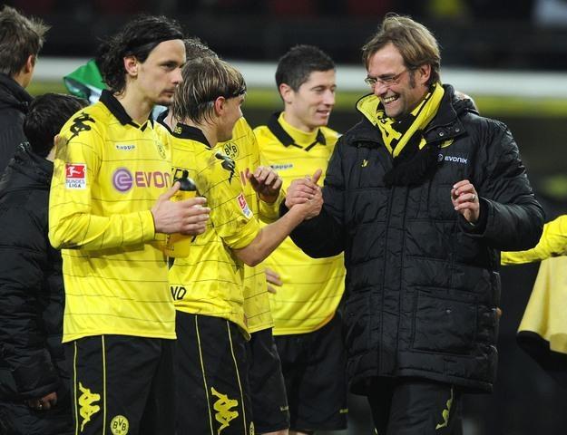 Piłkarze Borussii Dortmund są o krok od tytułu mistrza Niemiec /AFP