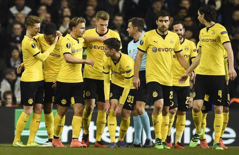 Piłkarze Borussii Dortmund świętują bramkę /PAP/EPA