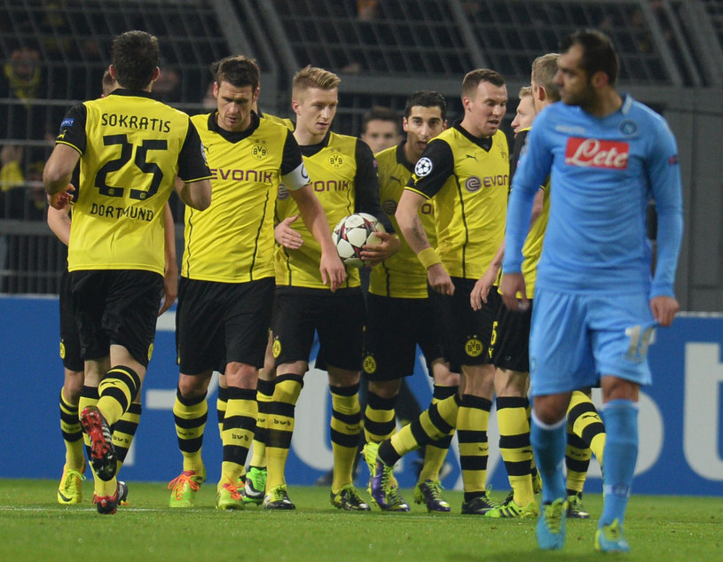 Pilkarze Borussii Dortmund /AFP