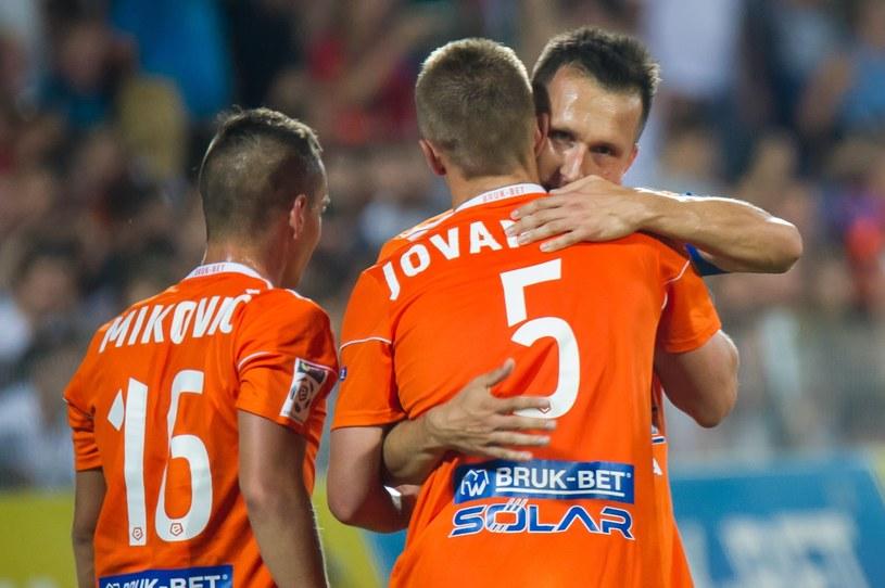 Piłkarze Bruk-Betu Termaliki /Tadeusz Koniarz /Reporter