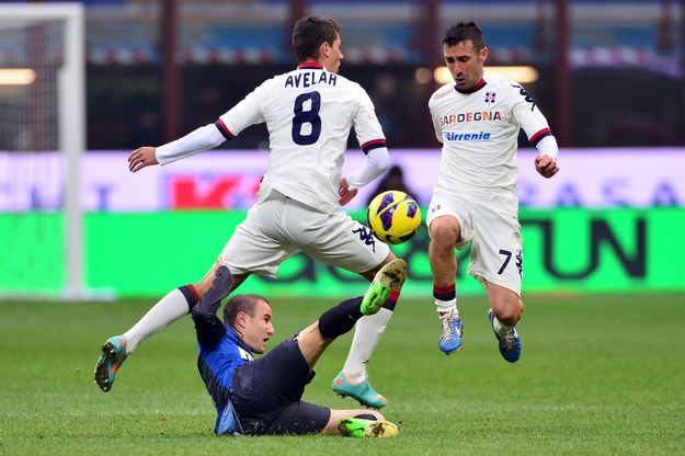 Piłkarze Cagliari zajmują obecnie 16. miejsce w tabeli Serie A /AFP