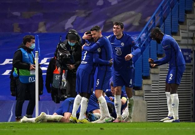 Piłkarze Chelsea Londyn po meczu z Realem /Adam Davy /PAP/EPA