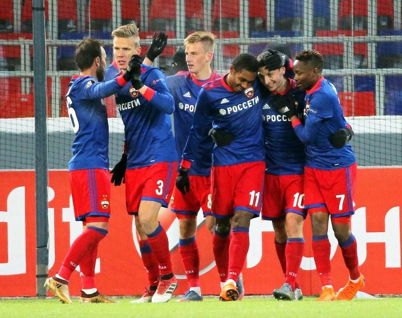 Piłkarze CSKA mają powody do radości /PAP/EPA
