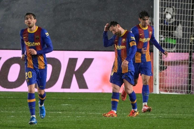 Piłkarze FC Barcelona /AFP/AFP JAVIER SORIANO/ /AFP