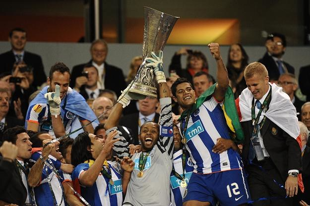 Piłkarze FC Porto fetują zwycięstwo w finale Ligi Europejskiej /AFP