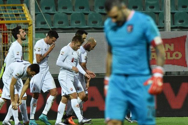 Piłkarze Fiorentiny pokonali na wyjeździe Palermo 3:1 /MIKE PALAZZOTTO /PAP/EPA