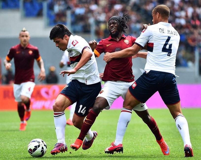 Piłkarze Genoi w meczu z Romą /AFP