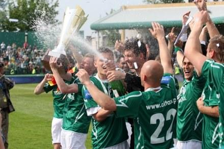 Piłkarze Groclinu nacieszyli się grą, ale w Pucharze Ekstraklasy, nie UEFA. Fot. P. Kucza. /Agencja Przegląd Sportowy