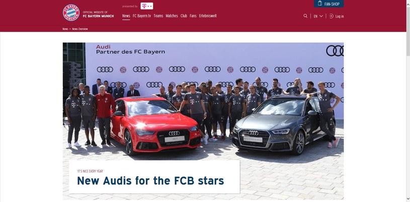 Piłkarze i sztab szkoleniowy Bayernu na uroczystości Ingolstadt Fot. fcbayern.com /