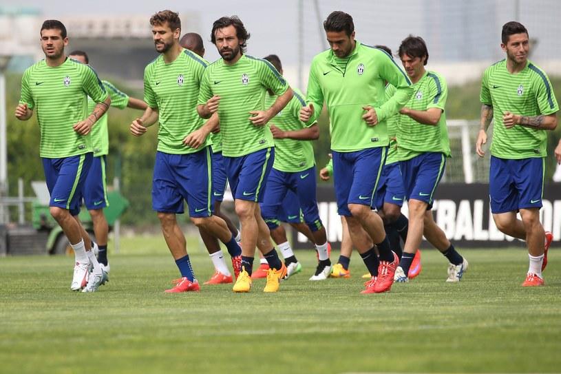 Piłkarze Juventusu na treningu przed meczem z Realem /AFP