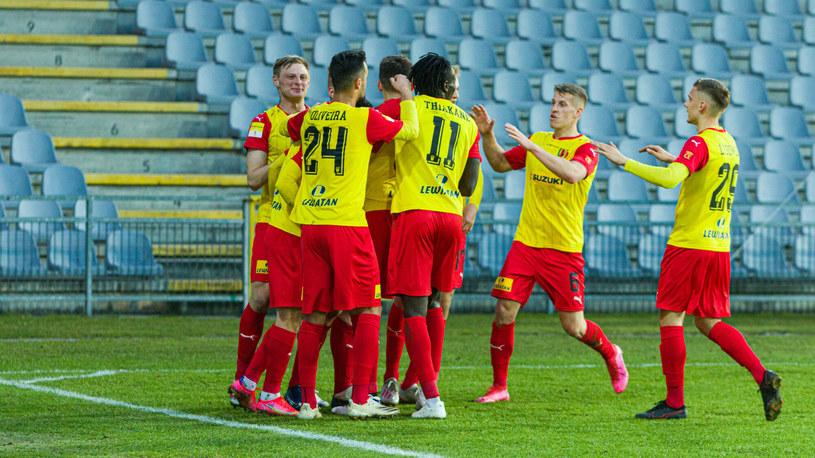 Piłkarze Korony Kielce /Grzegorz Ksel /East News