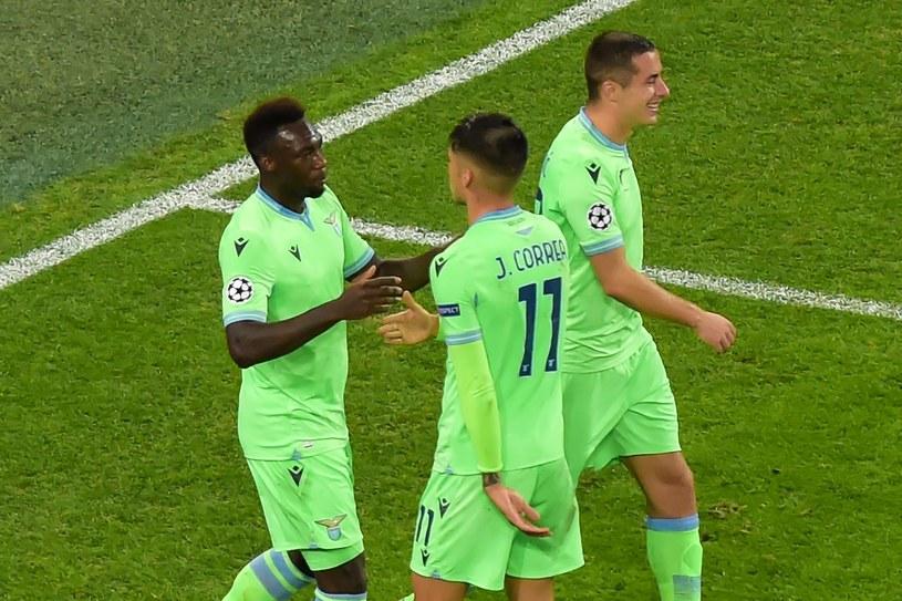 Piłkarze Lazio podczas meczu z Zenitem /AFP