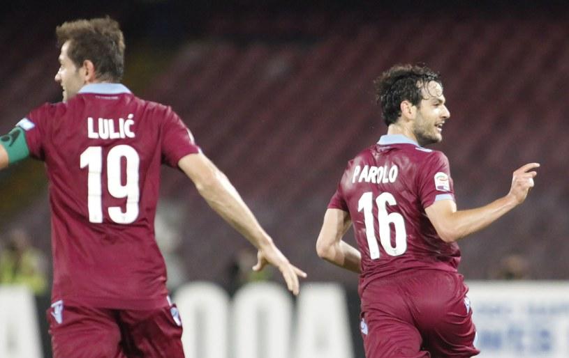 Piłkarze Lazio Rzym - Lulić i Parolo świętują po zdobytym golu /AFP