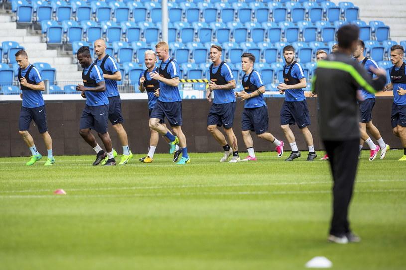 Piłkarze Lecha Poznań przygotowują się do meczu z FK Pelister /Bartosz Jankowski (PAP) /PAP
