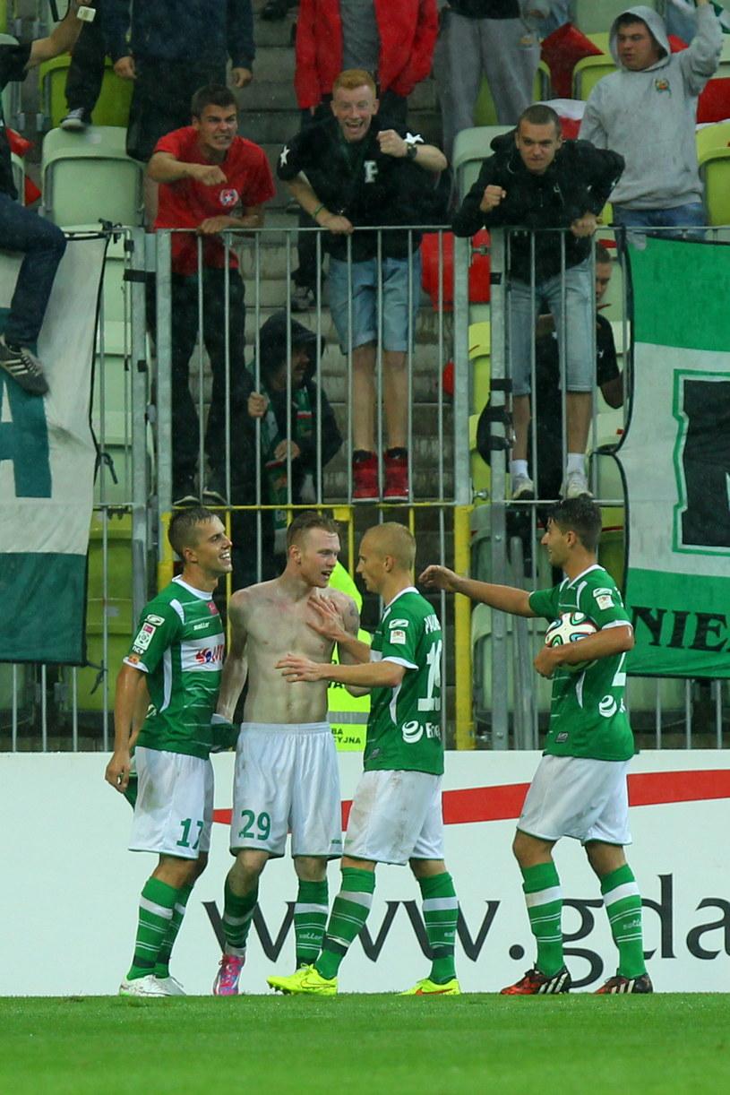 Piłkarze Lechii Gdańsk /Piotr Wittmann /PAP