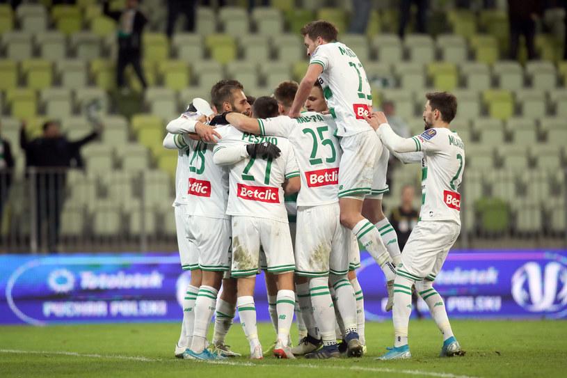 Piłkarze Lechii Gdańsk /Andrzej Talar /Newspix