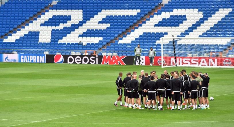 Piłkarze Legii Warszawa trenują na Santiago Bernabeu /AFP