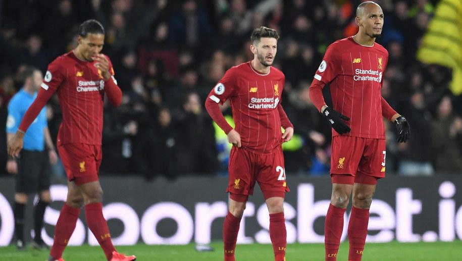 Piłkarze Liverpoolu podczas meczu z Watfordem /ANDY RAIN /PAP/EPA