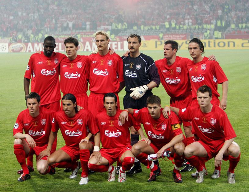 Piłkarze Liverpoolu przed meczem finałowym /AFP