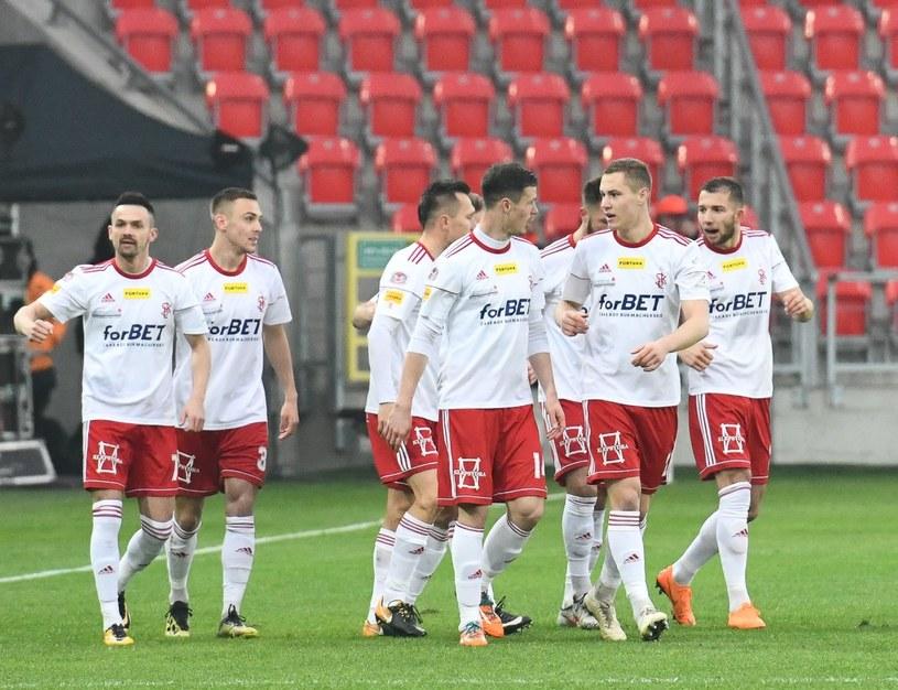 Piłkarze ŁKS-u /Grzegorz Łyko /Newspix
