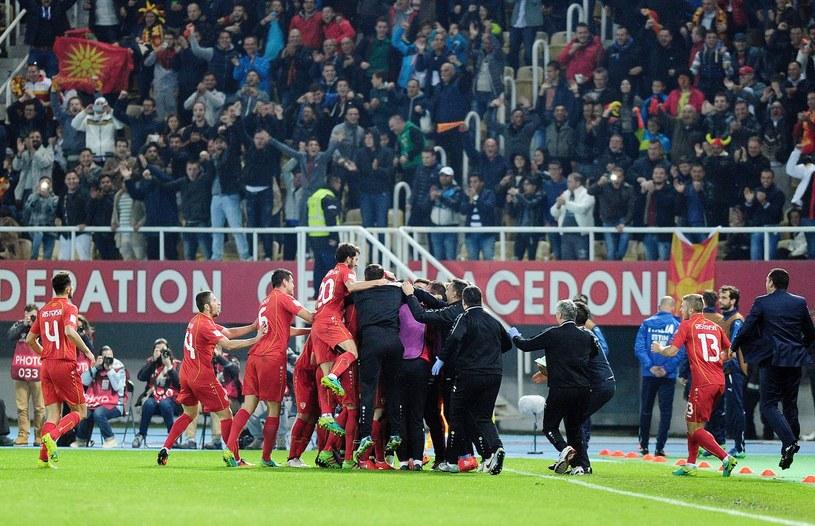 Piłkarze Macedonii Północnej na stadionie w Skopje /AFP