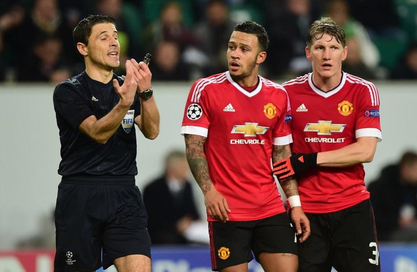 Piłkarze Man United mieli pretensje do arbitra, który nie uznał gola na 2-2 /AFP