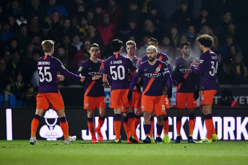 Piłkarze Manchesteru City /Getty Images