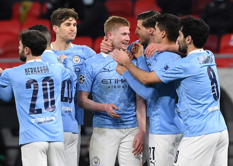 Piłkarze Manchesteru City /PAP/EPA