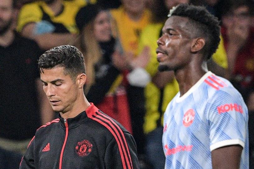 Piłkarze Manchesteru United: Cristiano Ronaldo (z lewej) oraz Paul Pogba /SEBASTIEN BOZON /AFP