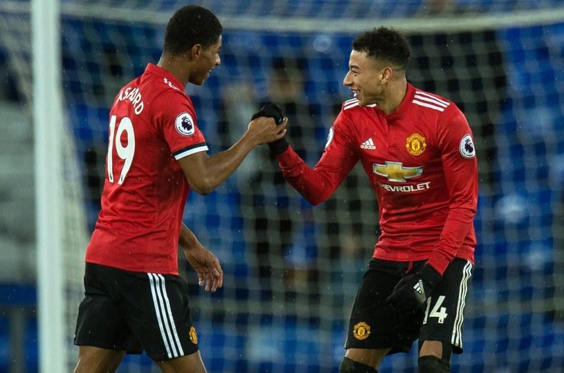 Piłkarze Manchesteru United -  Jesse Lingard (z prawej) i Marcus Rashford /PAP/EPA