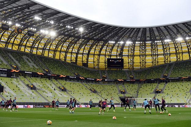 Piłkarze Manchesteru United podczas treningu w Gdańsku / Adam Warżawa    /PAP/EPA