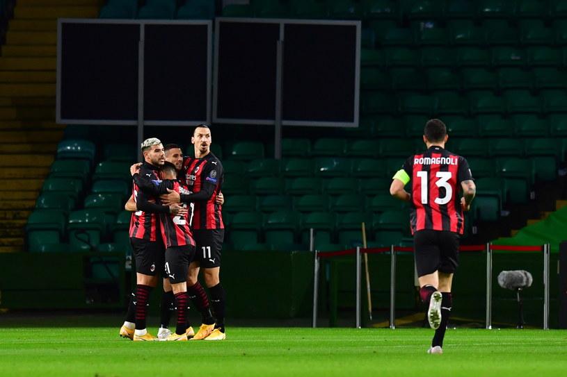 Piłkarze Milanu cieszą się z udanego początku Ligi Europy /PAP/EPA/Mark Runnacles / POOL /PAP/EPA