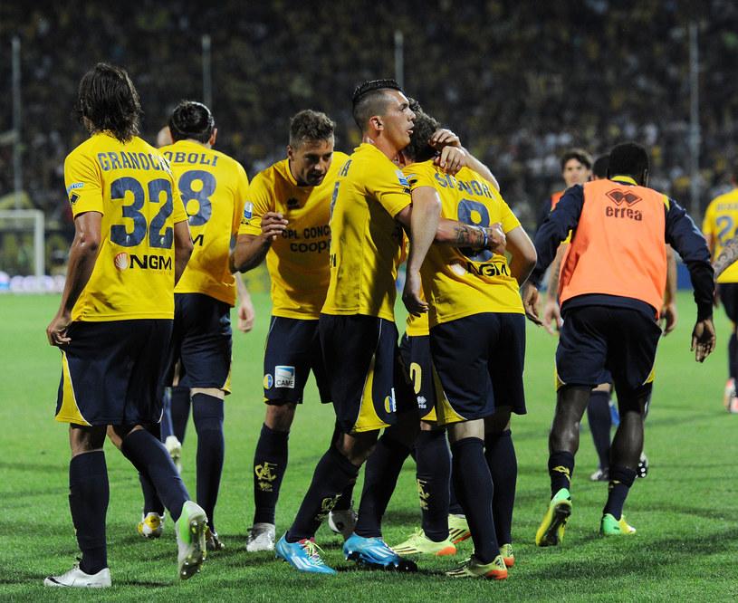 Piłkarze Modeny (w środku Thiago Cionek) /Giuseppe Bellini /Getty Images