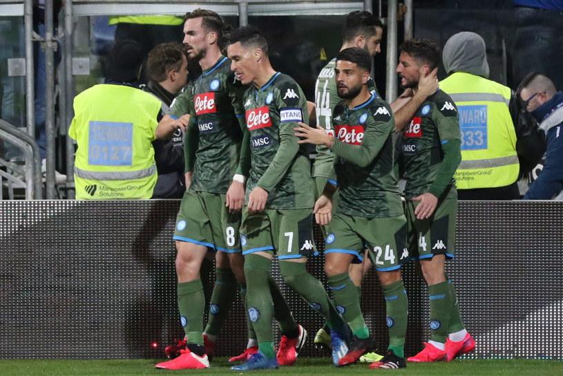 Piłkarze Napoli po zdobytej bramce /PAP/EPA